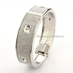 Womens Hinged Bangle Bracelet, jp02, 18mm wide, Length:60mm