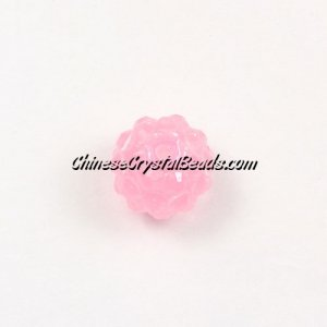Chinese Crystal Disco Bead Acrylic pink 10mm(inside), 25 beads
