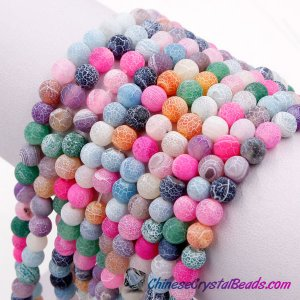 Effloresce Agate Beads Jasper mixed color Round 15.5inch