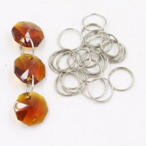 Iron split rings, Beaded curtain tool, 12mm, sold per pkg of 100pcs