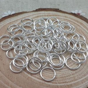Open Jump Rings Connector, silver plated, 4mm, 5mm, 6mm, 7mm, 8mm, 10mm jewelry findings DIY