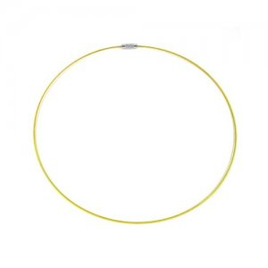 Yellow Steel Wire Choker Necklace