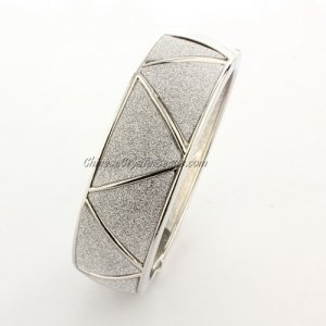 Womens Hinged Bangle Bracelet, jp03, 20mm wide, Length:60mm