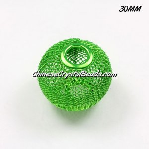 30mm green Mesh Bead, Basketball Wives, 1 pieces
