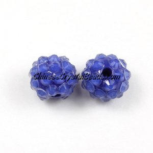 Chinese Crystal Disco Bead Acrylic sapphire 10mm(inside), 25 beads