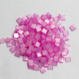 Chinese 5mm Tila Square Bead, opaque purple pink, about 100Pcs