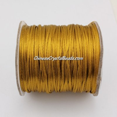 1.5mm Satin Rattail Cord thread, #21, 80Yard spool