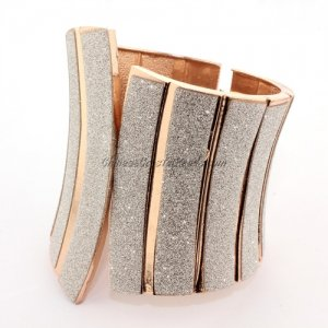 Womens Hinged Bangle Bracelet, alloy rose gold plated, Punk, 50-83mm wide, Length:60mm