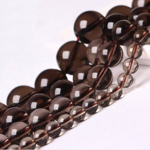 Genuine Natural Smoked Quartz Loose Beads Round Shape 4mm 6mm 8mm 10mm 12mm 14mm 16mm 15.5inch
