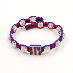 The finely woven Memory Wire Bracelet, 6mm pave clay beads, 1pc