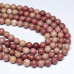 AAA Rhodonite Beads round 4mm, 6mm, 8mm, 10mm, 12mm, Natural pink beads Jewelry making, 15.5 inch
