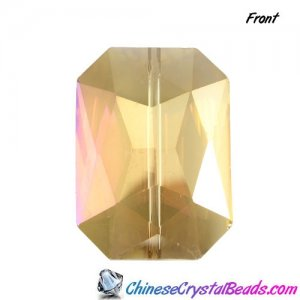 Chinese Crystal Faceted Rectangle Pendant yellow light, 24x33mm, 1pcs