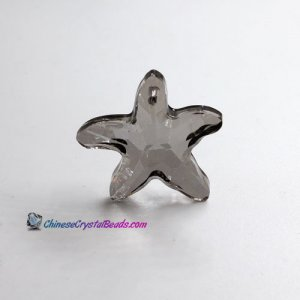 Crystal Starfish Pendant silver shade Charm Necklace pendant, 30mm