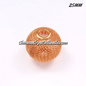 25mm sun Mesh Bead, Basketball Wives, 10 pieces