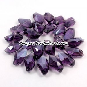 Chinese Crystal galactic Pendant, violet, 14x24mm, 10pcs