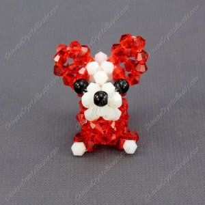 Crystal 3D beading dog kits, Free Pattern Instructions (more color you can choose)