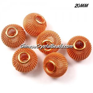 20mm Sun Mesh Bead, Basketball Wives, 10 pieces
