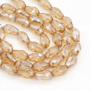 20Pcs 10x15mm Chinese Crystal Teardrop Bead strand, golden shadow