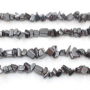 Hematite chip Gemstone Chips, 4mm to 8mm, Hole:1mm, Length:Approx 35 Inch