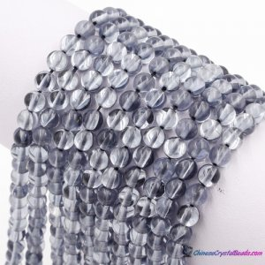 gray silver Mystic Aura Quartz Beads 6/8/10/12mm Rainbow Holographic Bead Synthetic Moonstone 15inch
