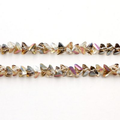 Triangle Crystal Beads, 4mm 6mm, amber light