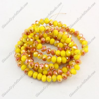 140Pcs 3x4mm Chinese rondelle crystal beads, opaque #008