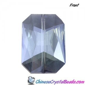 Chinese Crystal Multi-Faceted Rectangle Pendant, Blueberry Diamond, 24 x 33mm, 1pcs