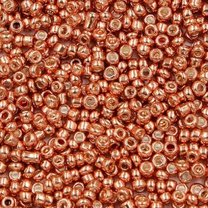 1.8mm AAA round seed beads 13/0, rose gold, #MX15, approx. 30 gram bag