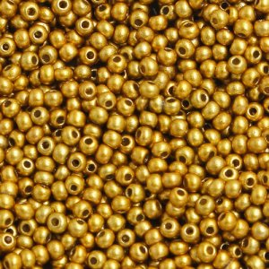 1.8mm AAA round seed beads 13/0, gold, #G03, approx. 30 gram bag