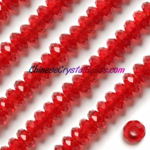 Crystal European Beads, Lt.siam, 8x14mm, 5mm big hole,12 beads