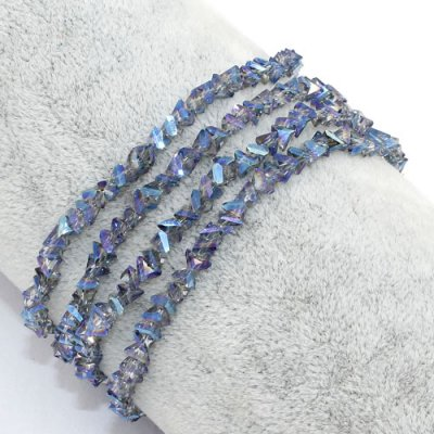 Triangle Crystal Beads, 4mm 6mm, blue light