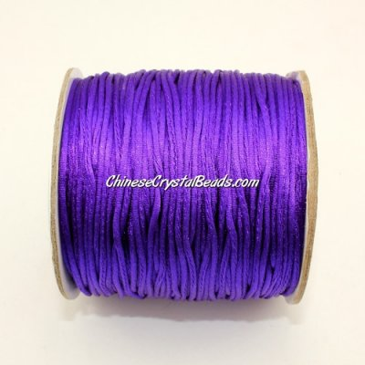 1.5mm Satin Rattail Cord thread, #41, violet, 80Yard spool