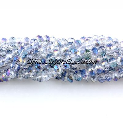 140Pcs 3x4mm Chinese rondelle crystal beads, 3x4mm, half blue light, about 150 beads