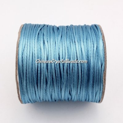 1.5mm Satin Rattail Cord thread, #13, lt. sapphire, 80Yard spool