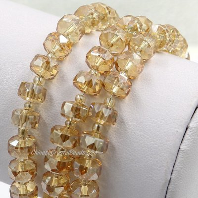golden shadow 5x8mm angular crystal beads