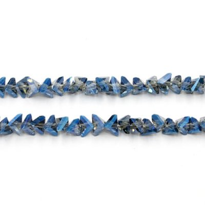 Triangle Crystal Beads, 4mm 6mm, Magic Blue