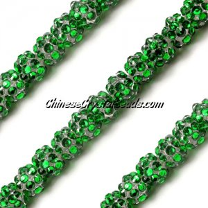Chinese Crystal Disco Bead Acrylic fern green 8mm(inside), 30 beads