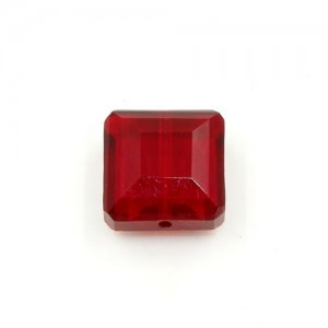 Chinese Crystal Faceted Square Pendant , siam, 13x13mm, 12 beads
