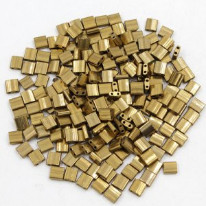 Chinese 5mm Tila Square Bead, brass, about 100Pcs
