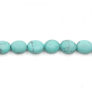 5x8x10mm Oval Turquoise Gemstone, hole:1mm, 15 inch/strand, 38PCs/Strand