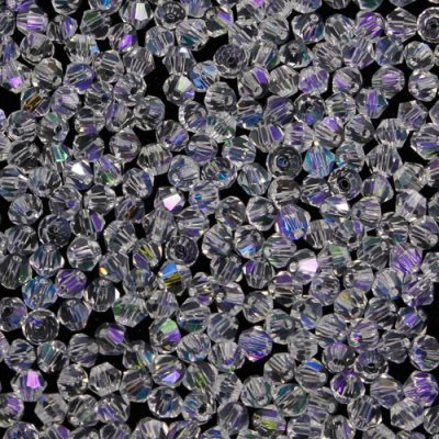 700pcs Chinese Crystal 4mm Bicone Beads, clear AB 2, AAA quality