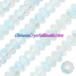 Crystal European Beads, sky blue, 8x14mm, 5mm big hole,12 beads