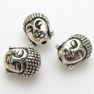 20Pcs 9x11MM Antique Silver Zinc Alloy Beads Buddha Beads, hole:2mm, Jewelry Findings