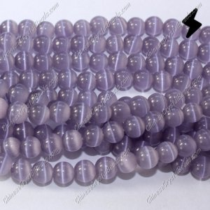 glass cat eyes beads strand, tanzanite, about 15 inch longer