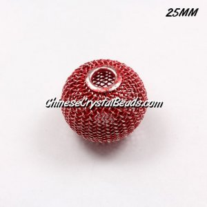 25mm Different Mesh Bead, Basketball Wives, 6 pieces