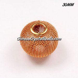 30mm Sun Mesh Bead, Basketball Wives, 1 pieces