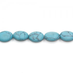 5x10x13mm Oval Turquoise Gemstone, hole:1mm, 15 inch/strand, 38PCs/Strand