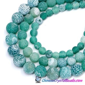 Effloresce Agate Beads Jasper sea green color Round 15.5inch