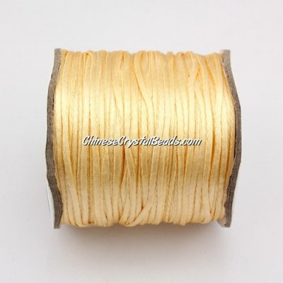1.5mm Satin Rattail Cord thread, #23, 80Yard spool