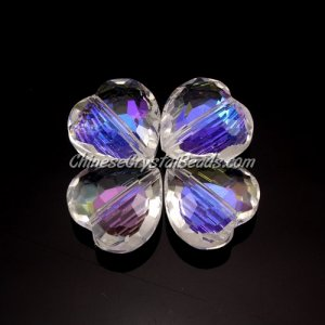 9Pcs Chinese Crystal 16mm Heart Pendant/Bead, Clear AB